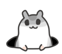 cutie cutie hamsters sticker #2150595