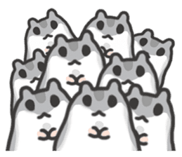 cutie cutie hamsters sticker #2150608