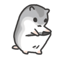 cutie cutie hamsters sticker #2150618