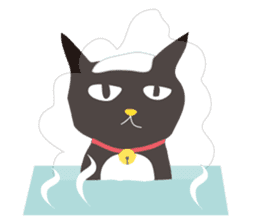 black cat Sankurou sticker #2156074