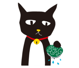 black cat Sankurou sticker #2156084