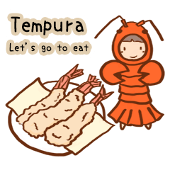 Let's go to eat. Sushi,tempura,ramen...