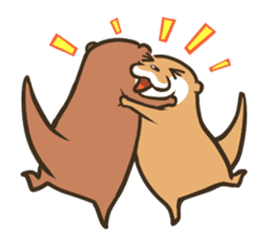 Kotsumetti of Small-clawed otter 03 sticker #2160659
