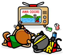 I LOVE AWA ODORI sticker #2161926