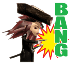 3D Pirates sticker sticker #2162477