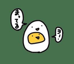 Yolk and white sticker #2164115