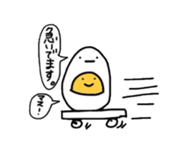Yolk and white sticker #2164118