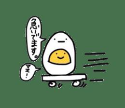 Yolk and white sticker #2164118