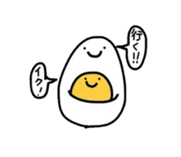 Yolk and white sticker #2164131