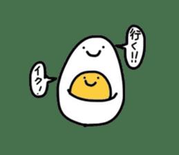 Yolk and white sticker #2164131