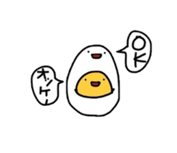 Yolk and white sticker #2164147
