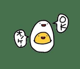 Yolk and white sticker #2164147