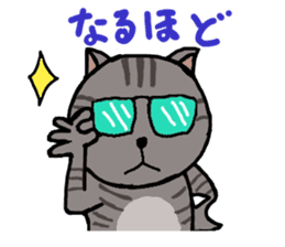 Japanese cat named Kijitora sticker #2164352