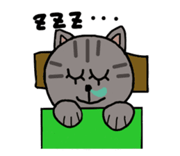 Japanese cat named Kijitora sticker #2164375