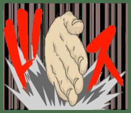 comics hand sticker #2165599