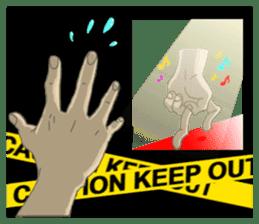 comics hand sticker #2165604