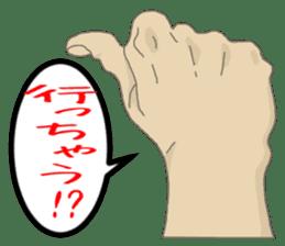 comics hand sticker #2165606