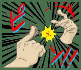 comics hand sticker #2165610