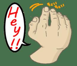 comics hand sticker #2165611