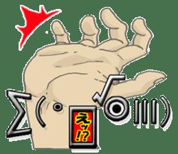 comics hand sticker #2165616
