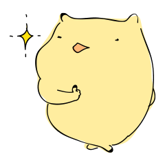 Everyday sticker of a healing hamster