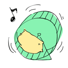 Everyday sticker of a healing hamster sticker #2165758