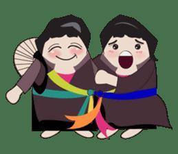 Vietnam's traditional costume sticker #2167193