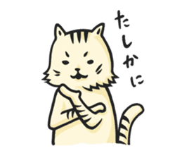 he is just a cat. sticker #2168394