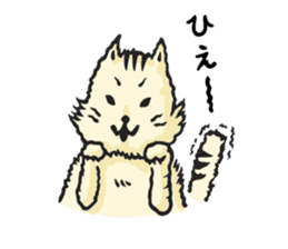 he is just a cat. sticker #2168397