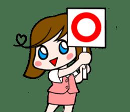 Office lady Mayumisan sticker #2168592