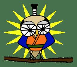 Chonmage Owl sticker #2170571