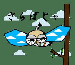 Chonmage Owl sticker #2170591
