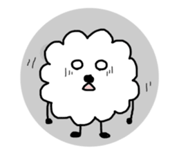 funny clouds character sticker #2170879