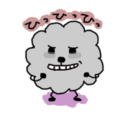 funny clouds character sticker #2170882