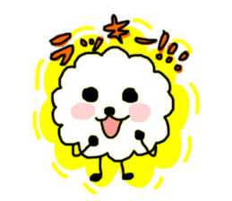 funny clouds character sticker #2170885