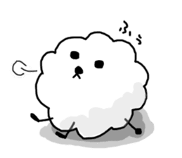 funny clouds character sticker #2170888