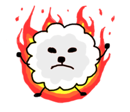 funny clouds character sticker #2170891
