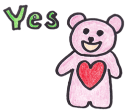 pink bear Ai sticker #2170956