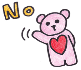 pink bear Ai sticker #2170957