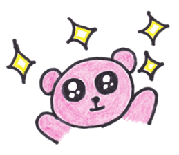 pink bear Ai sticker #2170963