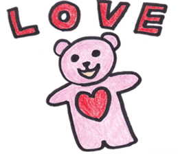 pink bear Ai sticker #2170964