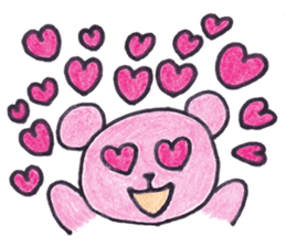 pink bear Ai sticker #2170965