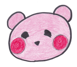 pink bear Ai sticker #2170966