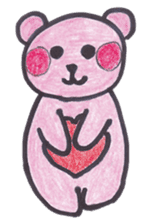 pink bear Ai sticker #2170967