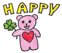 pink bear Ai sticker #2170970