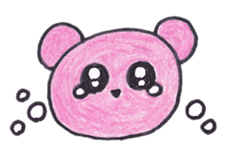 pink bear Ai sticker #2170975