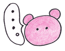 pink bear Ai sticker #2170976