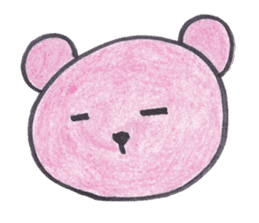 pink bear Ai sticker #2170984