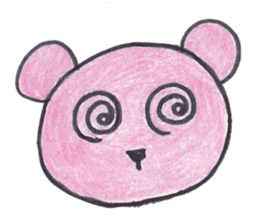 pink bear Ai sticker #2170986