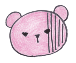 pink bear Ai sticker #2170990